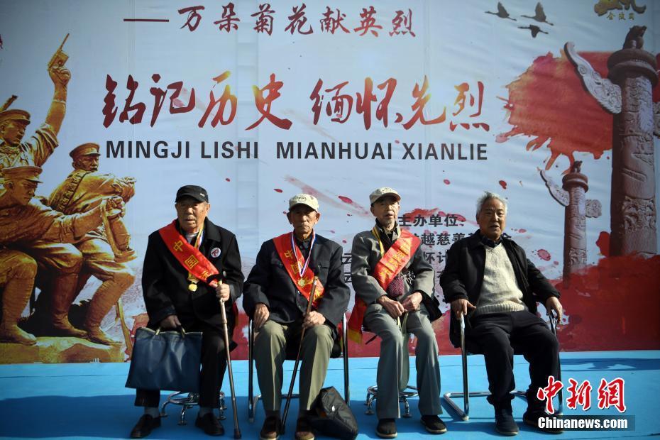 <p>抗战老兵应邀参加公祭活动。 中新社记者 李进红 摄</p>