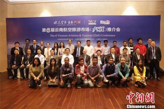 图为当天举行的第六届云南航空旅游市场推介会系列活动之一 云南机场集团供图